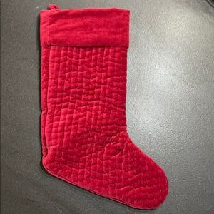 Pottery Barn Velvet Channel Quilted Stocking